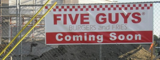 Opening date set for Five Guys Burgers in north Lynnwood