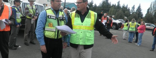 Local cities train in Lynnwood for emergency supply distribution