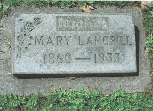 Mary Langrill burial spot