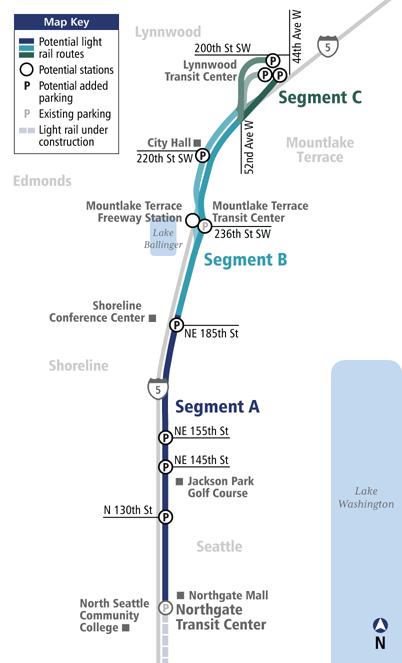 Seattle Light Rail Map