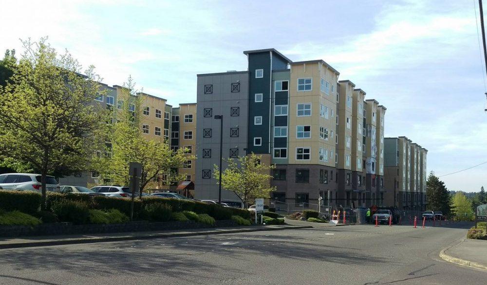 Scene In Lynnwood  City Center Senior Living Apartments
