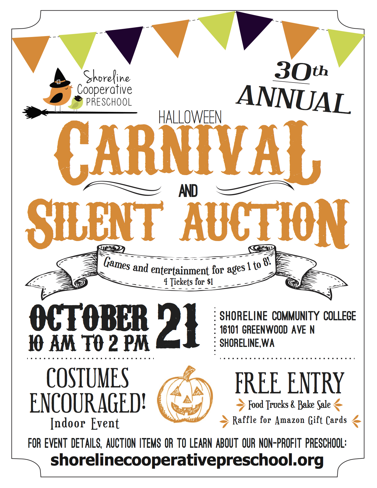 Halloween Carnivals Near Lynnwood 2020 Halloween Carnival and Silent Auction   Lynnwood Today