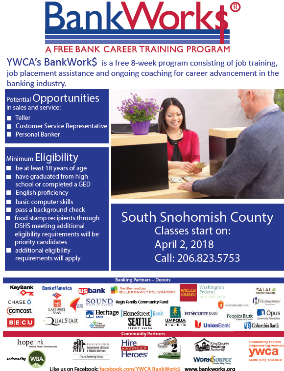 Registration for YWCA BankWork$ training program for banking