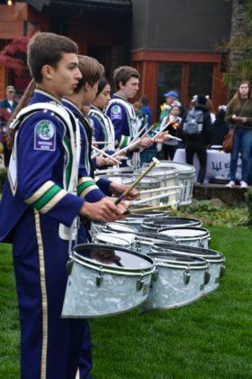 The EWHS drum line shows their stuff.