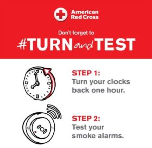 Turn back clock graphic