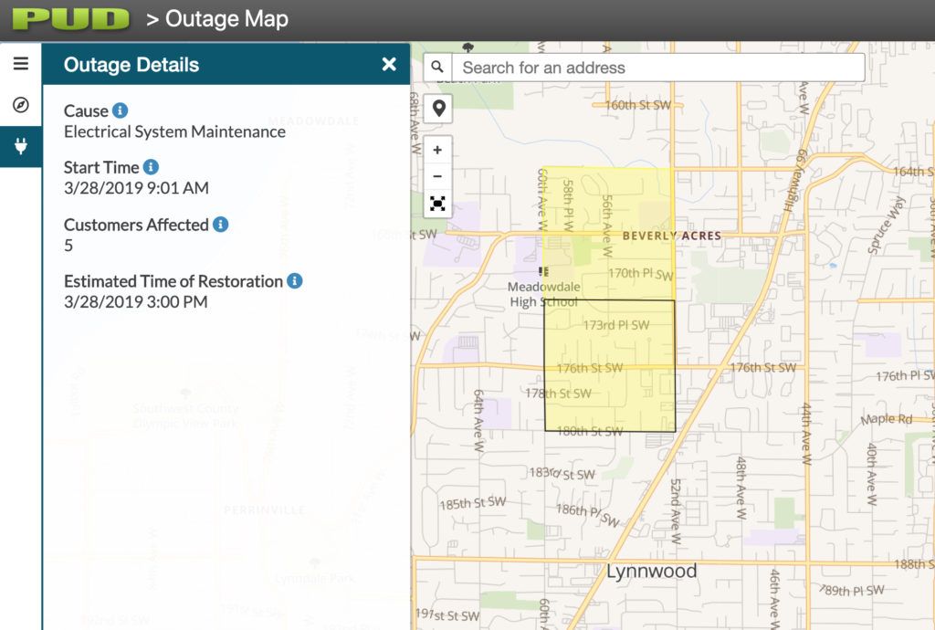 snopud power outage map Snohomish Pud Introduces Estimated Time Of Restoration To Outage