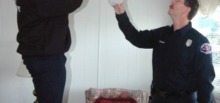 FD1 Installs 45 Free Smoke Alarms at MLT Mobile Home Park