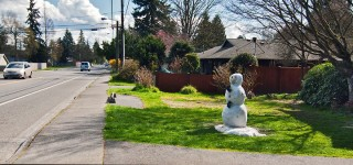 Snowman in MLT in April [PHOTO]