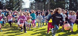 Sun Shines for MLT Easter Egg Hunt