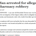 MLT Man Attempts to Rob Pharmacy