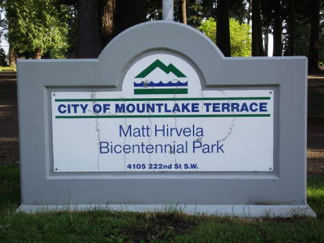 The Bicentennal Park sign will be repaired.