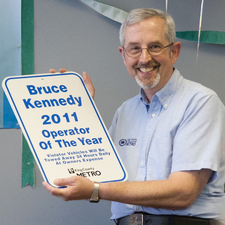 Metro Transit Operator of the Year Bruce Kennedy (Photo courtesy of Metro Transit)