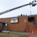 Readerboard installed at Brier Terrace Middle School