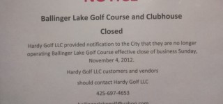 City exploring options after Ballinger Lake Golf Course abruptly closes