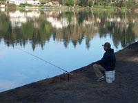 Fishing from Ballinger Lake