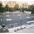 Work is completed at Park and Ride parking lot