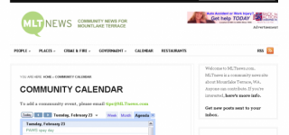 The return of the MLTnews Community Calendar