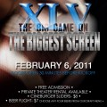 Watch the Big Game on the Big Screen