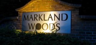 Markland Woods sign vandalized