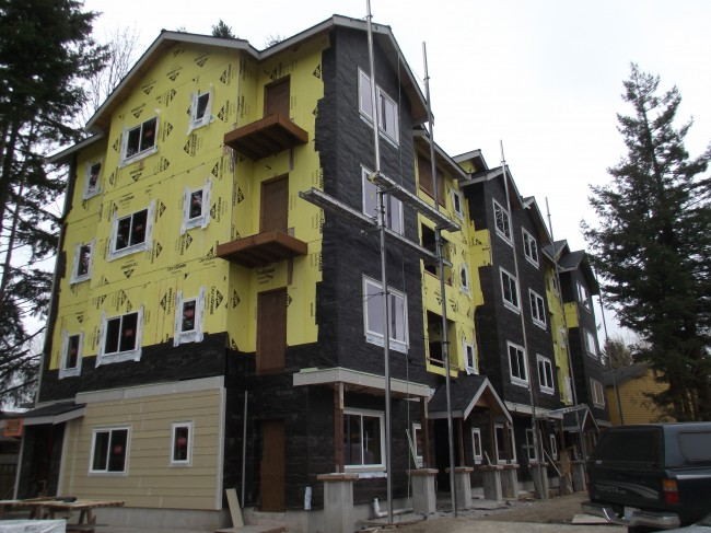 The new Terrace Heights apartments under construction.