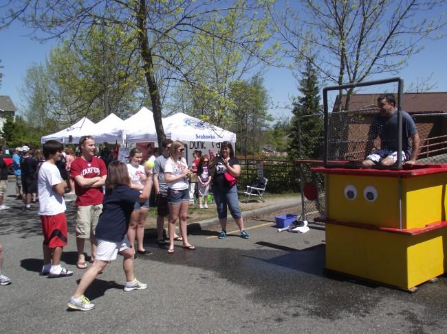 Dunk tank with Nalin Sood at Drive, Dunk and Dine, May 4 013