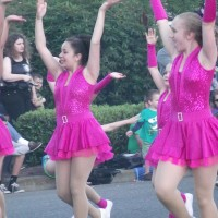 Members of Dance Elite provided color and dance to the parade
