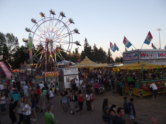 Carnival rides and games at 2013 Tour de Terrace