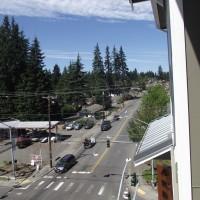 Unit #5114 features a bird's eye view of Mountlake Terrace.
