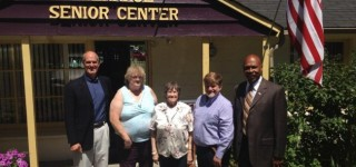 Congressman Larsen, County Executive Lovick stop by MLT Senior Center