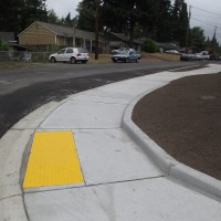 The 54th Street sidewalk, curb and gutter project included ADA ramps at 236th Street SW