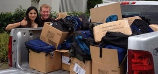 Backpack for Little Hawks drive delivers packs, supplies to local schools