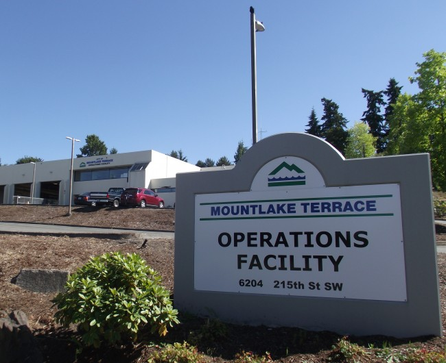 A storage yard at the City of Mountlake Terrace Operations Facility will be home for a new decant facility