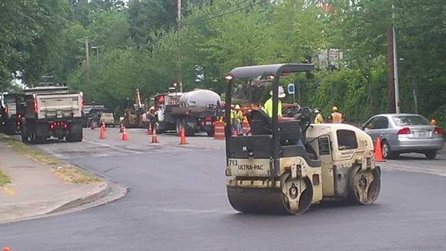 Crews finished replacing aging water main and storm drains beneath Cedar Way/44th Avenue West last week