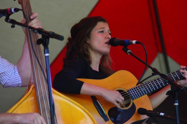 Molly Adkins of the Bluegrass Regulators did some impressive solos.