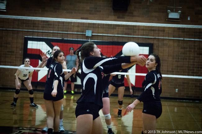 Madison Eich controls the ball.