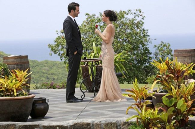 "Chris Siegfried and Desiree Hartsock from last season's ""Bachelor"" finale."