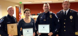 MLT police officers recognized for service