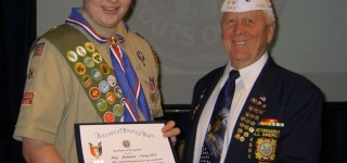 Ray Baldwin receives Eagle Scout award for work on Firefighters Memorial Park