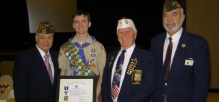 VFW Post presents 100th Eagle Scout Award in MLT