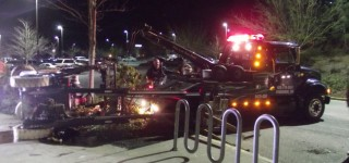 Forklift topples in Albertson's parking lot Wednesday