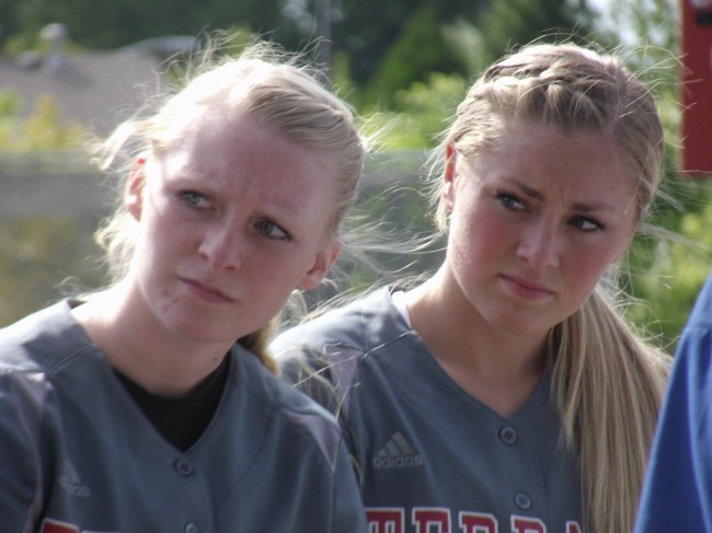 All-Wesco First team softball selections Hannah Baisch (left) and Maddy Kristjanson.