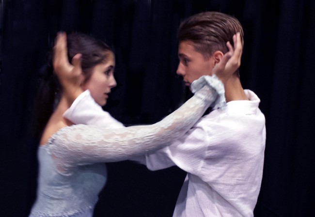Emily Davidson and Everett Amundson in Mountlake Terrace High School Drama Department's Romeo & Juliet.