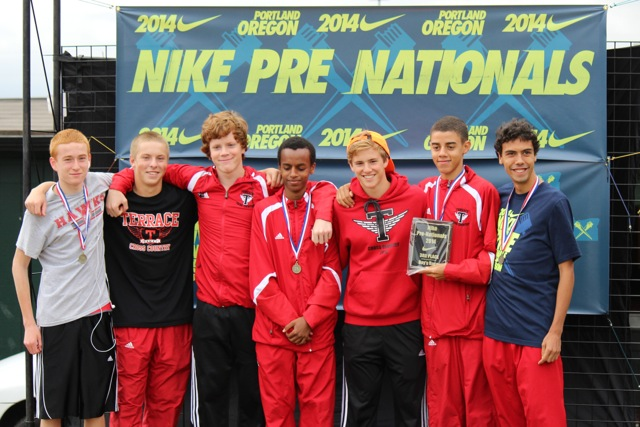 The Mountlake Terrace boys team finished third in their division.
