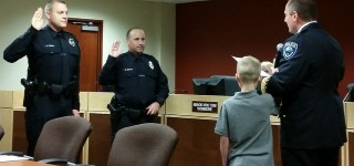 New Police Officers sworn in by Chief Wilson