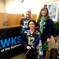 Seahawks selfie: HomeStreet Bank shows its spirit