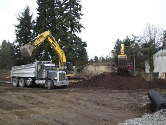 Construction at Mountlake Senior Living Apartments site, Feb. 12 011