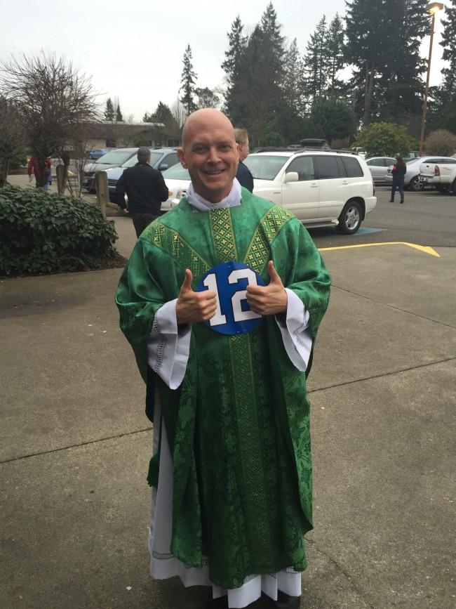 Father Cal Christiansen, Feb. 1