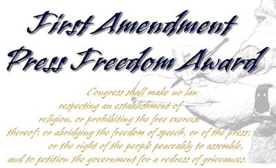 First Amendment Press Freedom Award logo