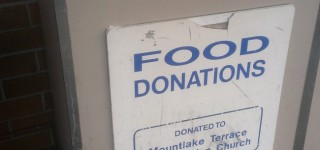 Stolen food bank barrel replaced by Concern for Neighbors