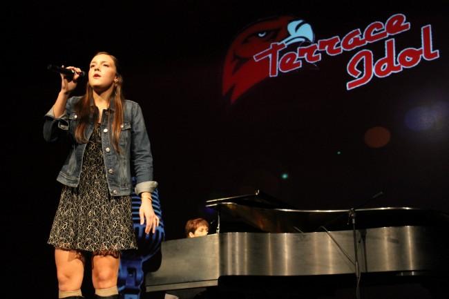 Mountlake Terrace's Alisha Clingan advanced to the Terrace Idol finals. (Photos by Amanda Petrowski)